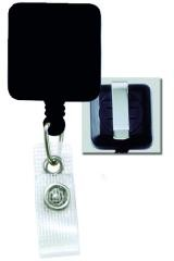 Standard Square Clip-on Plastic Badge Reels - 100