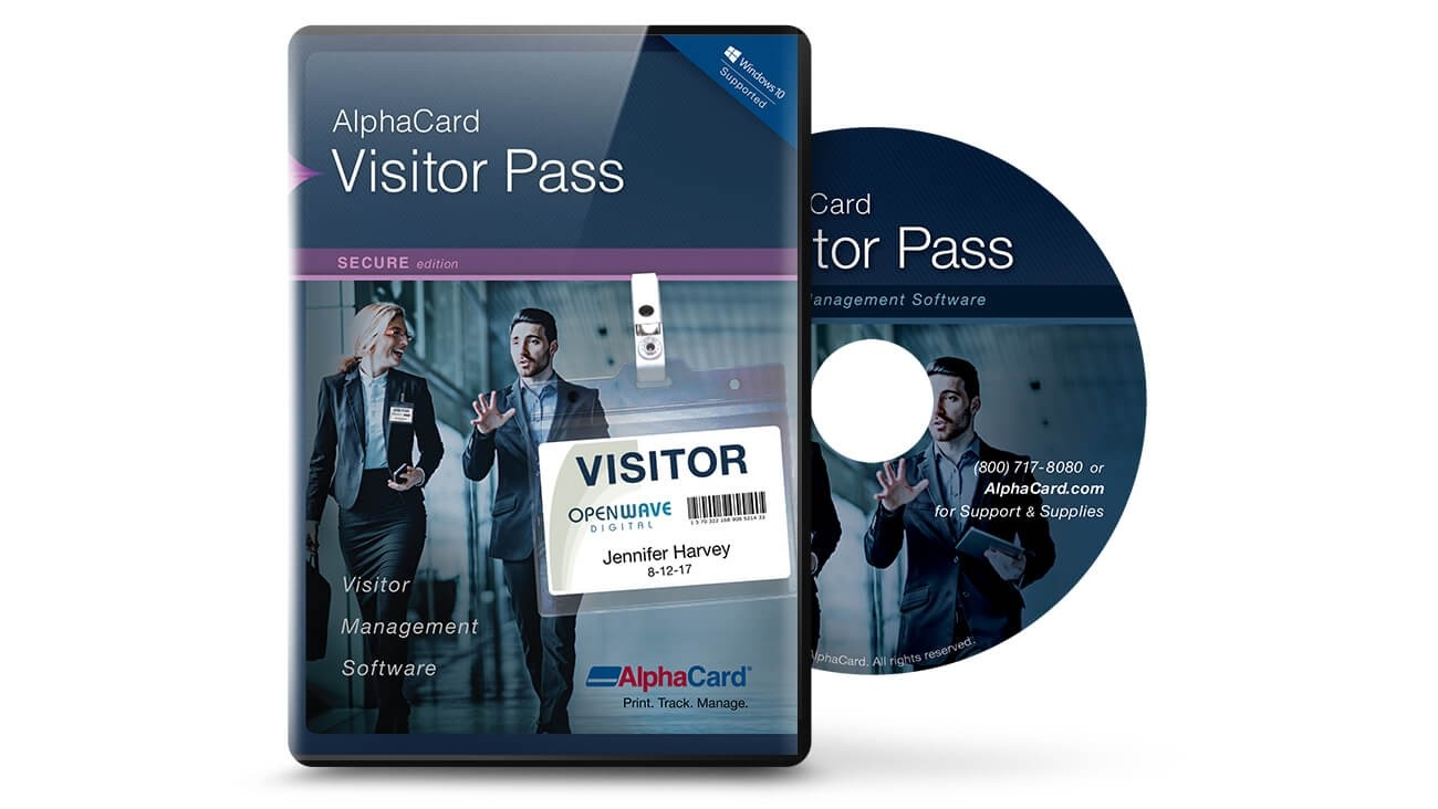 AlphaCard Visitor Pass Secure