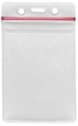 Resealable Zippered Badge Holders – Pack of 100