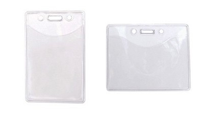 Standard Clear Badge Holder - 100 Pack - Value