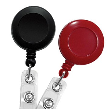 Round Badge Reel with Reinforced Strap – Pack of 25