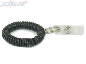 Standard Plastic Wrist Coils w/Rings & Clips-250