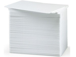 Standard White Blank PVC Cards - 100 pack