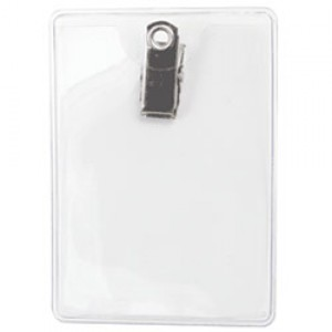 Standard Clip On Badge Holder - Portrait - Cr-80