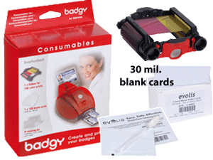 Evolis VBDG205EU  Badgy Supplies Kit