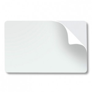 Clear Pressure Sensitive Clear 2mil Card Overlay w/ Back Tab - For CR79 Cards