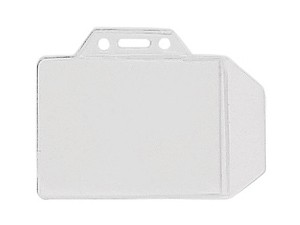 Horizontal Hanging Holder w/Tuck-in Flap-100 pack