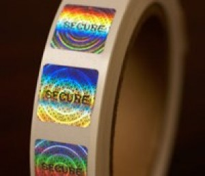 "Standard Secure Hologram Sticker Silver .75"" SQ"
