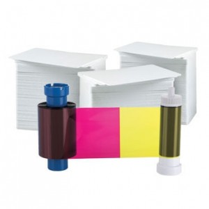 AlphaCard YMCKO 300 Print Ribbon Card Bundle