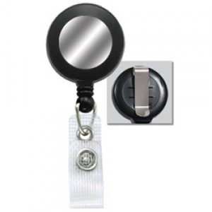 Standard Retractable Badge Reel-Black Clip-On