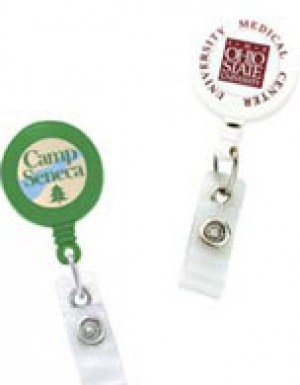 Standard Round Custom Printed Solid Badge Reels
