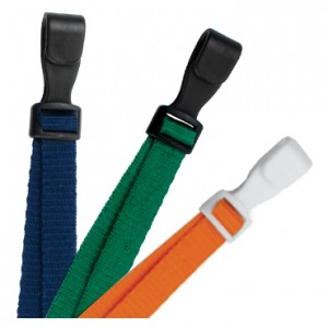 "Adjustable 3/8"" Microweave Lanyards – Pack of 100."