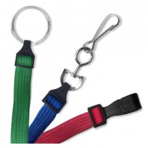 "Standard 3/8"" Flat Ribbed Lanyards – Pack of 100."