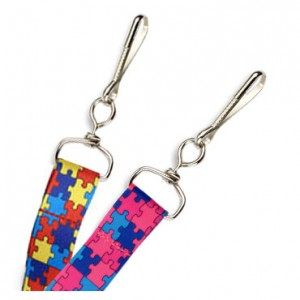 "3/4"" Autism Puzzle Lanyard – Pack of 100"