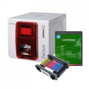 Evolis Zenius Printer, Ribbon & Software Bundle