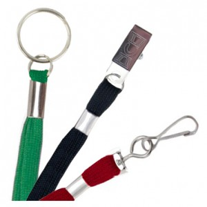 "Non-breakaway 3/8"" Flat Polyester Lanyards – Pack of 100."