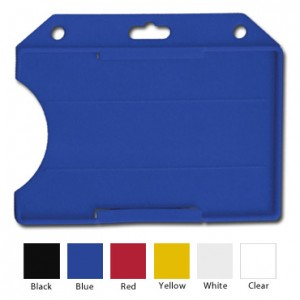 Horizontal Semi Rigid Plastic Card Holder - Select Color - 50 Pack