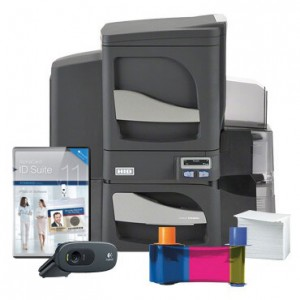 Fargo DTC4500e Dual-Sided Standard ID Card System - Single-Sided Lamination
