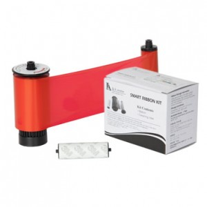 IDP Resin Red Monochrome Ribbon Kit – 3000 Prints