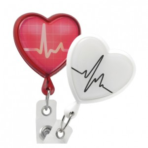 EKG Healthcare Heart Badge Reel – Pack of 25