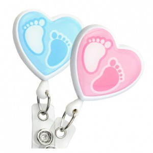 Baby Footprint Badge Reel – Pack of 25