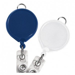 Round Badge Reel with Lanyard Loop – Pack of 25