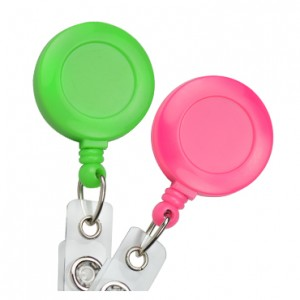 Neon Round Badge Reels – Pack of 25