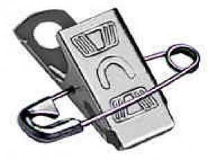 Standard Attachable Embossed U Pin-Clip - 500
