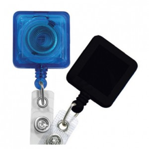 Square Badge Reels with Reinforced Strap – Pack of 25