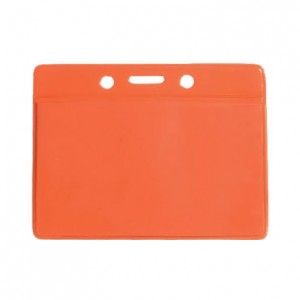 Standard Color Back Badge Holder Top Load w/ Slot
