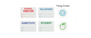 SCHOOLBadge Expiring School Badge Kit - Badge and Apple Timing Circles - One Day